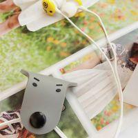 韩国 创意卡通耳线理线器 纽扣钉扣可爱绕线器 集线器 现货 批发
