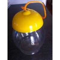 公仔造型果冻巧克力杯食品密封瓶 卡通玩具包装塑料罐,塑料瓶桶