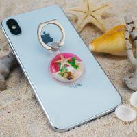 景区热卖新款 海洋工艺品 海洋琥珀懒人手机指环支架