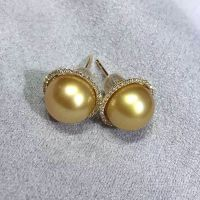 女式金珠圆形耳环  厂家直销时尚潮流奢华K金镶嵌金珠耳环