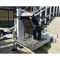 广东斜挂式无障碍机械厂家 启运进口斜挂平台电梯 轮椅楼道升降机