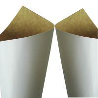瑞典进口涂布皇冠恩索涂布牛卡纸一面白一面黄牛皮纸供应(hjh-006)787卷筒常规正大度冷冻专用