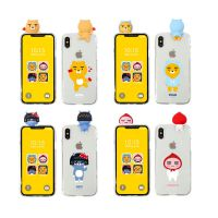韩国正品kakao苹果X立体透明硅胶手机保护壳iPhone8三星s8plus套