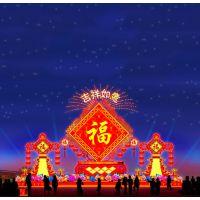 2019年春节花灯设计方案大型节日花灯彩灯生产厂家元宵节灯会