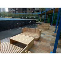 缅甸柚木户外家具实木制阳台桌椅庭院室外桌椅