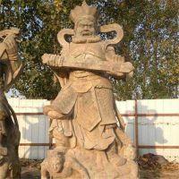 厂家直销花岗岩仿古石雕四大天王宗教庙宇供奉佛像雕刻天王神将雕塑摆件