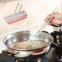 环保小麦秆防滑加长筷子捞面筷厨房无漆无蜡餐具防霉尖头筷子1双