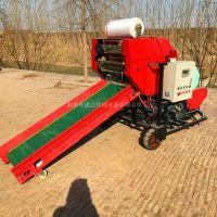 青储打包机 玉米秸秆畜牧草青储打捆机缠膜