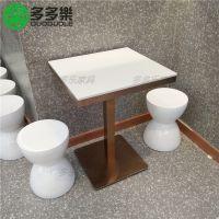 多多乐厂家直简约现代主题餐桌椅销两人大理石餐桌 西餐厅汤粉店快餐桌子
