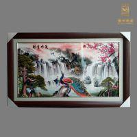 现代风格陶瓷瓷板画 手工制作青花瓷板画