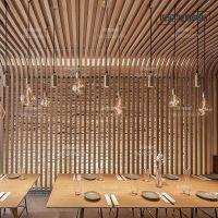 供应苏州木纹铝方通 铝合金装饰屏风窗花厂家