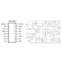 供应嘉泰姆驱动IC CXRS3107A仪表总线收发器集成芯片无极性连接 3.3V 稳压源动态电平识别