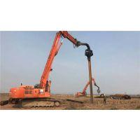 上海惠南镇拉森钢板桩打拔围护支撑施工履带式液压打桩机费用水泥桩打拔价格