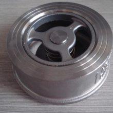 安徽铜陵阀门供应商 H71-16C DN40 对夹式止回阀 用途广泛