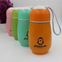 新款不锈钢企鹅杯厂家直销定制LOGO双层不锈钢礼品杯广告杯保温杯