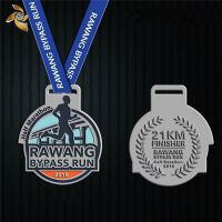 奖牌制作金属马拉松奖牌定制徽章比赛奖章幼儿园荣誉金银铜牌定做