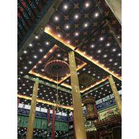 定制PVC寺庙四合院复古酒楼餐饮顶棚牡丹中式3D立体平面装饰吊顶天花