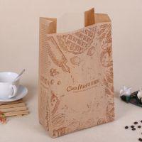 精致方底牛皮纸包装袋 食品淋膜纸袋 饼干蛋糕打包袋 定做