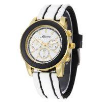 中性手表三眼硅胶手表女款学生手表 男士手表运动情侣对表石英表