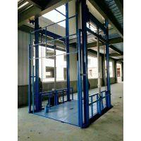 供应导轨式升降机仓库厂房3-20米液压升降1-10吨货梯厂家