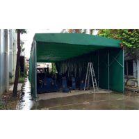 合肥制作移动雨蓬带滑轮轨道可伸缩折叠遮阳棚推拉防雨棚