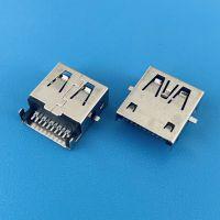黑胶A母3.0沉板2.45mm/USB AF前贴后插SMT/贴片式/无卷边/带弹片