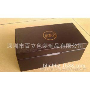 东莞木盒厂供应 黑色亚光漆木盒 黑色5分亮光木盒