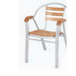 双管铝木椅,户外休闲椅,餐厅椅,客厅椅,书房椅 休闲户外椅 餐椅水曲柳实木椅子
