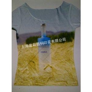 供应广告促销T恤印花,一件起印数码印花速度快.