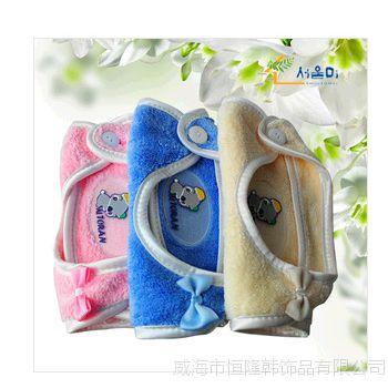 新品 限时疯抢婴儿围嘴儿童防水现货韩国进口白色拖朗里宾围嘴