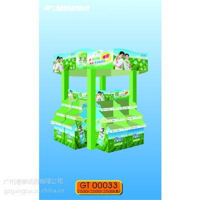 促销纸展示架、纸货架、堆头(广告形象鲜明特出;纸制品,环保可回收。)
