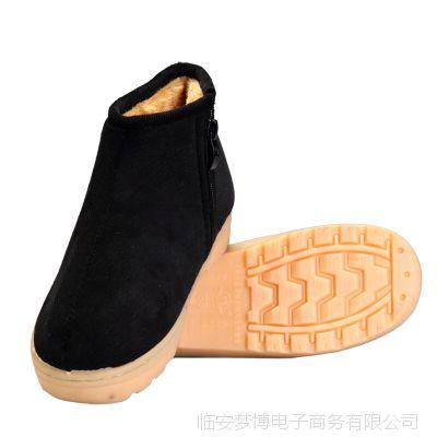 火拼爆款家居手工棉鞋 冬天 牛筋底耐磨超保暖 男士棉鞋女式棉鞋