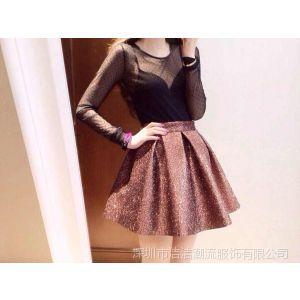 供应2014春装新款 来自星星的你同款纯色闪亮钻石蓬蓬半身裙短裙