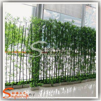 供应各种仿真植物装饰 仿真塑料竹子 工艺品金镶玉竹 假竹子