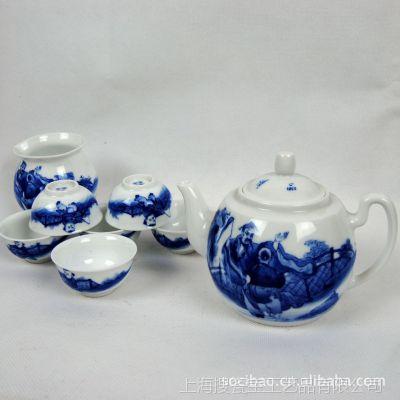 高档景德镇手绘青花茶具 礼品套装茶具定制 高丹手绘茶具礼品