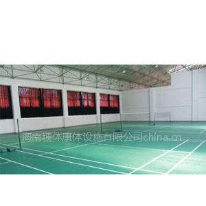 供应海南海口陵水乐东承建PVC羽毛球场/PVC羽毛球场地板铺设