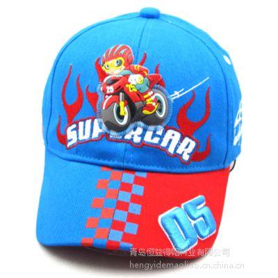 青岛儿童帽生产厂家供应定做儿童卡通可爱太阳帽遮阳帽旅游帽