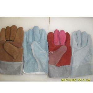 供应牛二层皮家私皮劳保防护手套
