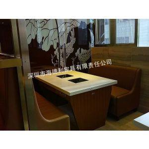 供应云浮大理石火锅桌,火锅专用桌子,餐饮百强海德利!