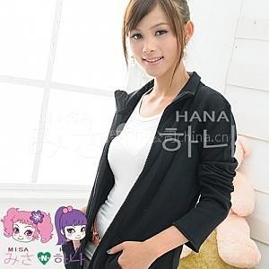 供应【MISA –N– HANA】青春活力?纯棉立领式休闲外套(黑)