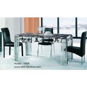 供应供应不锈钢大理石餐桌