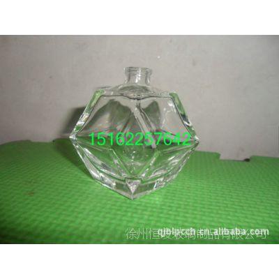 玻璃瓶厂家专业生产优质高白料香水玻璃瓶     宝石形玻璃香水瓶