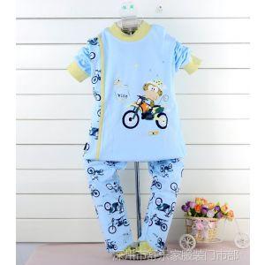 供应东方神童摩托车中小童纯棉内衣套装 儿童内衣套装
