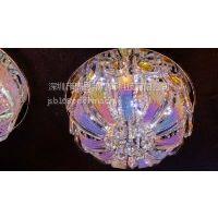 供应现代简约宜家圆形水晶吸顶灯 客厅灯饰 led水晶灯