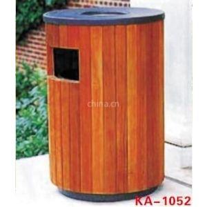 供应圆形铁木垃圾桶 室外果皮收容箱 园林环保果皮箱