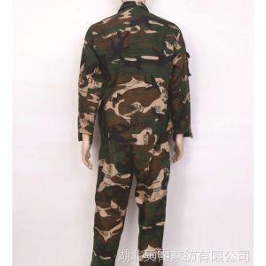 供应江苏南京厂家加厚帆布迷彩服套装,迷彩短袖,学校迷彩军训服