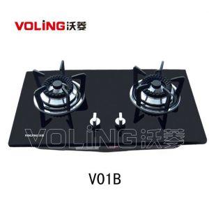 VOLING沃菱 燃气灶V01B 纯黑钢化