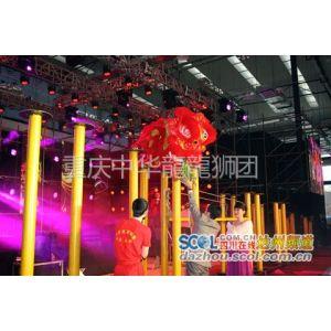 供应重庆舞狮表演 - 大型梅花桩《狮王争霸》舞狮表演