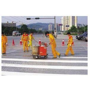 重庆马路工厂路边停车场划线 道路热熔标线划线 地下车库划线