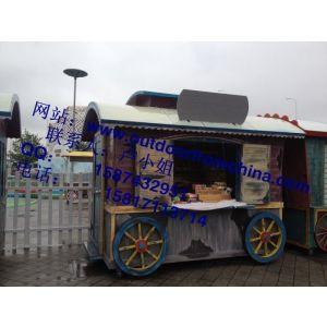 供应巧克力乐园彩绘售货车 上海世博园售卖车供货商
